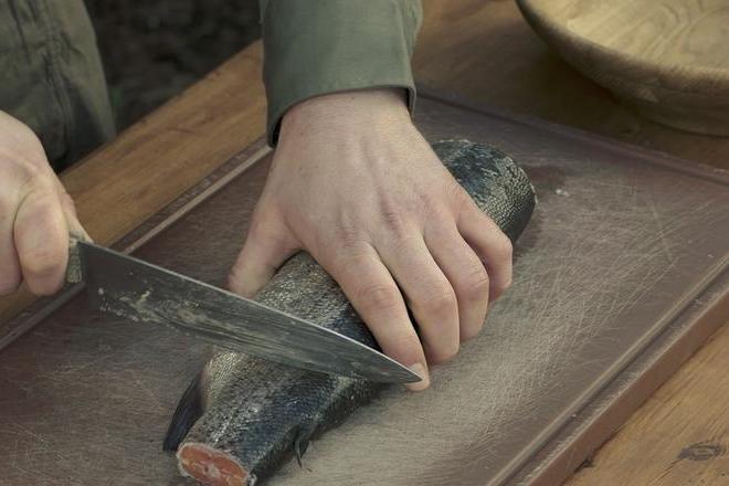 Gesalzener Fisch